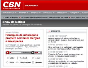 Entrevista para a CBN